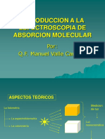 Introduccion a La Espectroscopia de Absorcion Molecular