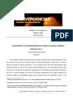 Lo histórico y lo transhistórico en el debate Foucault - Derrida