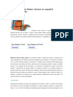 Windows Movie Maker Version en español Descargar gratis.docx