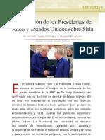 Declaración de los Presidentes de Rusia y Estados Unidos sobre Siria