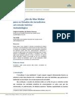 A Contribuição de Max Weber Para Os Estudos Do Jornalismo Um Ensaio Teórico-metodológico.