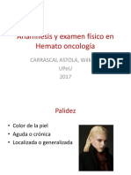 3 Anamnesis y Examen Físico Hemato