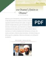 ¿Quién era Osama?¿Quién es Obama?, por Michel Chossudovsky