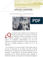 Demolición controlada , por Manlio Dinucci