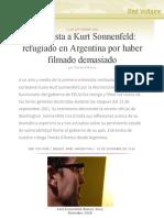 Entrevista a Kurt Sonnenfeld