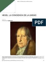 Hegel_ La Conciencia de La Unidad