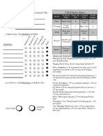 The Zorcerer of Zo - Character Sheet 2