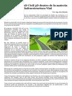 Uso de AutoCAD Civil 3D Dentro de La Materia de Infraestructura Vial