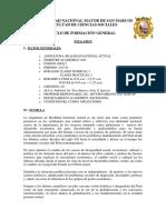 Syllabus de Realidad Nacional 2017-II