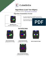 Last 2 Edges Algorithms 5x5