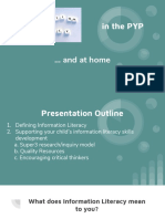 information literacy in the pyp and at home