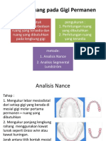 Analisis Ruang Pada Gigi Permanen