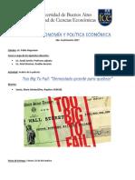Trabajo Práctico Macroeconomía _Too Big to Fail