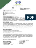 Historia Clinica Urgencias