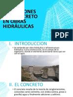 Aplicaciones Del Concreto en Obras Hidráulicas