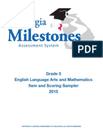 eog grade 5 item and scoring sampler
