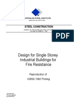 Design of Single Storey Industrial Buildings for Fire Resistance
