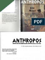 Revisa Anthropos - José Martí Poesía y Revolución