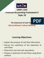 Topic 10- Cash Flow