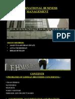 Lehman Brothers Holding Sinc