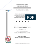 """TECNOLOGÍA DE PERFORACIÓN CON TUBERÍA DE REVESTIMIENTO COMO UNA ALTERNATIVA EFICIENTE EN LA PERFORACIÓN DE POZOS PETROLEROS"""""""