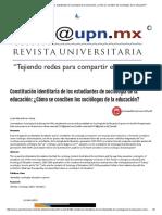 Constitución Identitaria de Los Estudiantes de Sociología de La Educación_ ¿Cómo Se Conciben Los Sociólogos de La Educación