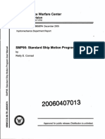 Rielly E.conrad. SMP93 - Standard Ship Motion Program User Manual