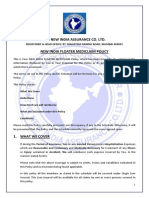 New India Assurance Family Floater Mediclaim Policy Wordings