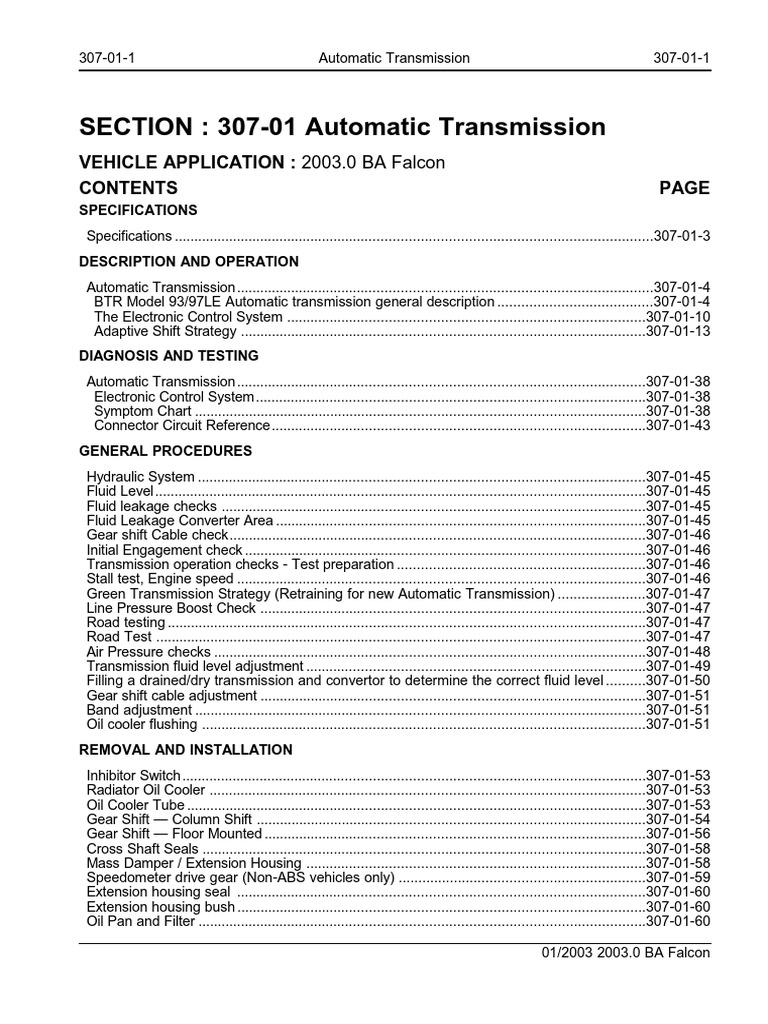 Ford BTR transmission repair manual.pdf | Manual Transmission | Automatic  Transmission