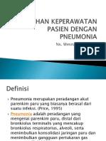 Asuhan Keperawatan Pasien Dengan Pneumonia