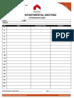 7. Hse Departmental Meeting Attendance Sheet