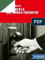 Una Puerta Que Nunca Encontre - Thomas Wolfe