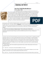 protest speeches worksheet