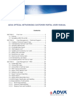 ADVA Optical Customer Portal User Manual v1.16