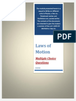 Laws of Motion Mcqs