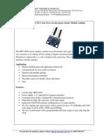 MPU 6050 GY-521 Datasheet