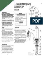 Install Sink Mixer Instructions Acqua