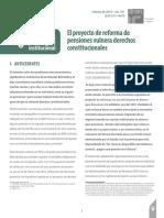 Análisis_DEL_181 El Proyecto de Reforma de Pensiones Vulnera Derechos Constitucionales 4 03 16