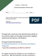 Divisoes Territoriais de Portugal