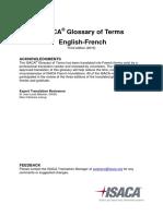 ISACA Glossary English French
