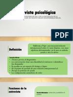 Entrevista y Observacion Psicológica