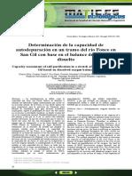 Determinación de la capacidad de autodepuración en un tramo del río Fonce en San Gil con base en el balance de oxígeno disuelto