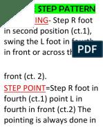 Dance Step Pattern g7