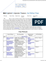 Corporate Finance Online Class-syllabus