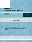 Oxygen Supplementation