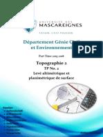 TP2 - Levé altimétrique et planimétrique de surface.pdf
