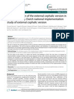 2010 - Implementation of the External Cephalic Version in Breech Delivery