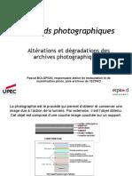 altérations et dégradation des photographies2016