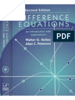 Difference Equations an Introduction With Applications 2 Ed - Kelley,Peterson