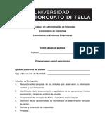 Primer Examen Parcial Teoría y Práctica Con Soluciones contabilidad basica